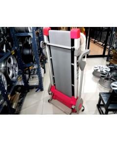 ลู่วิ่งไฟฟ้าใหม่มาก ใช้น้อย MTF3010 สีชมพู รับน้ำหนักได้ 120 กก.พับเก็บได้ หน้าจอLCDความเร็ว การเต้น