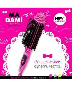 Madami Curl Revolution หวีผมตรง+ม้วนลอนวอลลุ่ม 2in1 สีชมพู