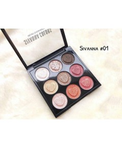 sivanna colors velvets eyeshadow HF4002 (เบอร์ 01)