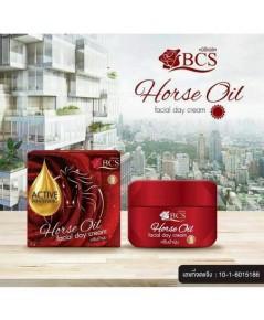 Horse Oil facial day cream BCS ครีมม้าหน้านุ่ม ครีมบำรุงกลางวัน บรรจุ12g.
