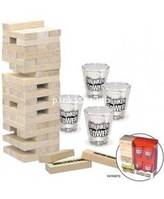เกมดึงเสาแก้วช็อต Drunken Tower เกมส์ตึกถล่ม