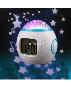 โคมไฟดาวเปลี่ยนสีพร้อมเสียงเพลงนาฬิกา