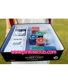 เกมไพ่ ชุดโปคเกอร์ คาสิโน Poker chip set ไพ่โปคเกอร์