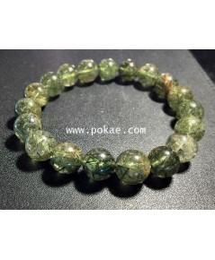 หินไหมเขียว Green Rutilated Quartz