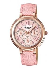 นาฬิกาผู้หญิง SHEEN รุ่นพิเศษ SHE-3034GL-4A สายหนังสีชมพู
