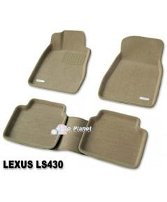 ถาดยางปูพื้นเข้ารูป 100%และกันน้ำ กันฝุ่น รุ่น 3D สำหรับ Lexus-LS430