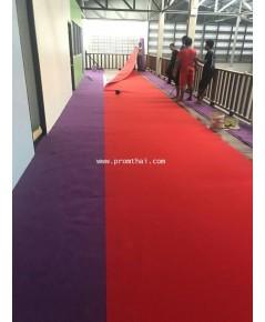 พรมลูกฟูกสีแดงสด รหัสสีคือ w481 หน้ากว้าง 2เมตร