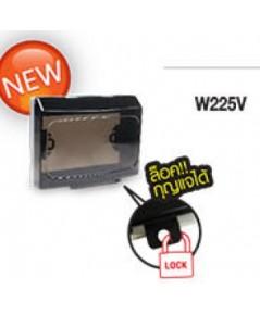 หน้ากากกันน้ำแบบฝังแบบใสสีดำ W225V