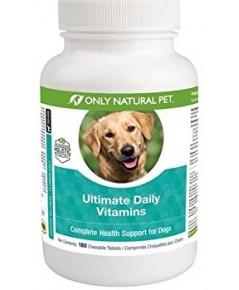 OnlyNatural Ultimate Daily Vit วิตามมินรวมบำรุงสุนัข เกรดTop Holistic สกัดจากธรรมชาติล้วน (180 เม็ด)