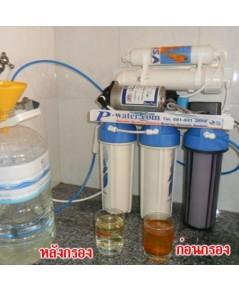 ซ่อมเครื่องกรองน้ำ Fujika 4 ขั้นตอนเป็น RO100GPD