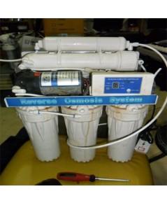ซ่อมอับเกรดเครื่องกรองน้ำหลังน้ำท่วมที่ อ.บางบัวทอง (RO6 ของ Uni-Pure)