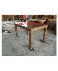 โต๊ะทานข้าวไม้สัก หน้าโต๊ะไม้หนา1นิ้ว