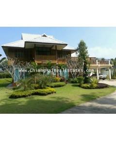 ขายบ้านไม้ทรงไทยประยุกต์ นอกเมือง วิวสวย