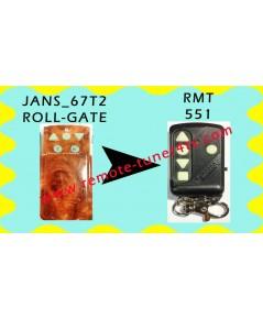 JANS_67T2 รีโมทประตูม้วน