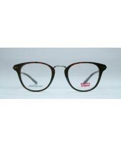 แว่นตา LEVI\'S LS136 สีแดงกระ