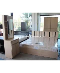 ชุดห้องนอน โรบิน ตู้บานเลื่อน 120 cm