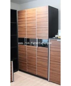 ตู้เสื้อผ้าบานเปิด 120 cm รุ่น 1643 ความสูง 213 cm