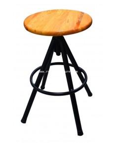 เก้าอี้บาร์ ที่นั่งไม้ยาง รหัส 1732