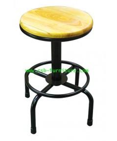 เก้าอี้บาร์เบาะไม้ รหัส 1930