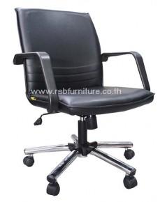 เก้าอี้สำนักงาน พนักพิงหนัง ขาเหล็กโมเดิร์น รหัส 2011