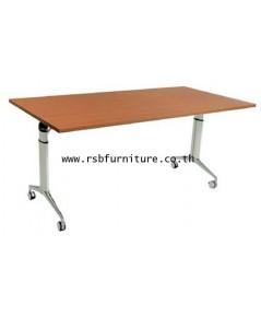โต๊ะพับล้อเลื่อน TOP เมลามีน ขนาด 160/180 CM รหัส 2052