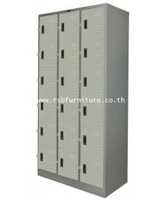 ตู้ล็อกเกอร์ 18 ประตู รุ่น LK - 018 (มี มอก.1284-2538) รหัส 2159