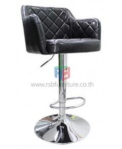 เก้าอี้บาร์หนังดีไซน์สีดำ รหัส 2152