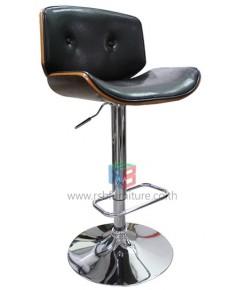 เก้าอี้บาร์ ดีไซน์ลายไม้หุ้มหนัง รหัส 2266