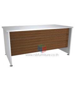 โต๊ะทำงานโล่งมีบังหน้า 150 cm. เมลามีนพิเศษ รหัส 2300