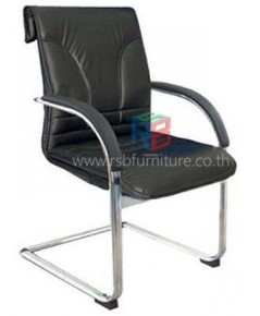 เก้าอี้รับร้อง หุ้มหนัง ที่ท้าวแขนโครเมี่ยม ขาตัว C รหัส 2302