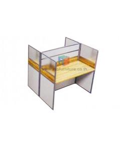 โต๊ะทำงานกลุ่ม 2 ที่นั่ง 124 x 122 cm รหัส 2331