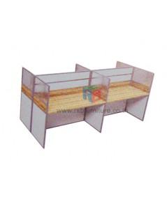 โต๊ะทำงานกลุ่ม 4 ที่นั่ง  เมลามีนสีพิเศษ 246 x 122 cm รหัส 2348