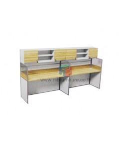 โต๊ะทำงานกลุ่ม 2 ที่นั่ง 306 x 62 cm+ตู้เอกสาร เมลามีนสีพิเศษ รหัส 2347