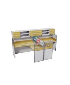 โต๊ะทำงานกลุ่ม 2 ที่นั่ง 306 x 154 cm+ตู้เอกสาร เมลามีนสีพิเศษ รหัส 2336