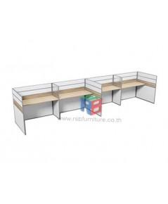 โต๊ะทำงานกลุ่ม 4 ที่นั่ง 610 x 122 cm เมลามีนสีพิเศษ รหัส 2428