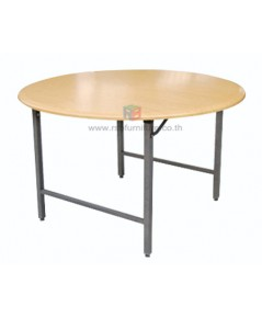 โต๊ะพับกลม ขาเหล็ก กันน้ำได้ รหัส 2437