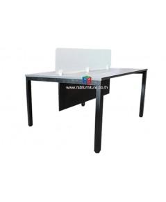 โต๊ะทำงานกลุ่ม2ที่นั่ง W120xD120cm มีminiscreenกระจก รหัส 2513 รุ่นขายดี