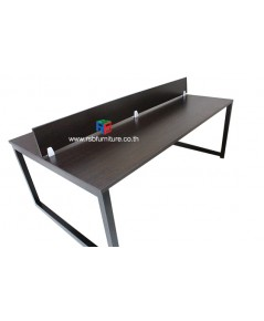 โต๊ะทำงานกลุ่มขาเหล็กตัวC ขนาด W200XD120CM รหัส 2514