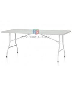 โต๊ะพับอเนกประสงค์ หน้าโต๊ะผลิตจากพลาสติกคุณภาพสูง พับครึ่งได้ รหัส 2554