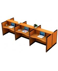 โต๊ะทำงานกลุ่ม 6ที่นั่ง TOP WAVE WORKSTATION W386XD125CM รหัส 2580