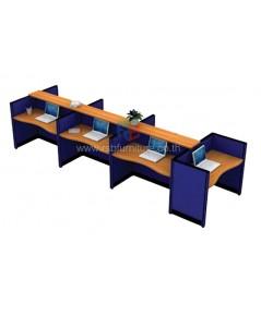 โต๊ะทำงานกลุ่ม 7ที่นั่ง TOP WAVE WORKSTATION W444XD125XH108CM รหัส 2657