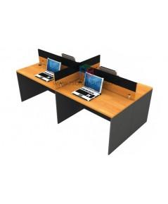 โต๊ะทำงานกลุ่ม 4ที่นั่ง WORKSTATION W242XD120XH106CM MINI SCREEN หุ้มเหล็ก รหัส 2669