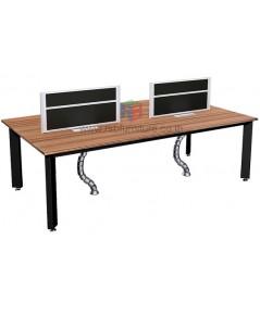 โต๊ะทำงานกลุ่ม 4ที่นั่ง WORKSTATION W240XD120CM เมลามีนสีพิเศษสี B-WALNUT รหัส 2485
