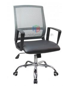เก้าอี้สำนักงาน พนักพิงหลังตาข่ายเหนียวพิเศษ เหมือนรุ่นบริหาร ที่นั่งเบาะหนัง รุ่นขายดี รหัส 2729