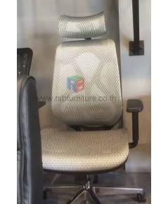เก้าอี้ผู้บริหาร ที่นั่ง พนักพิงเป็นตาข่ายแบบเหนียว เอนได้ เบาะเลื่อนได้ นั่งสบาย รับน้ำหนัก 120KG ร