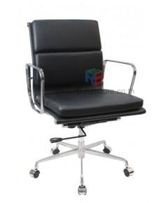 เก้าอี้สำนักงาน EAMES SOFT PAD LOW BACK (REPLICA) โครงอะลูมิเนียมทั้งตัว รหัส 2731 ราคา PROMOTION