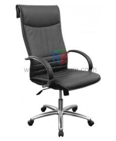 เก้าอี้ผู้บริหาร แขนเหล็กหุ้มหนัง พนักพิงสูง รหัส 2770