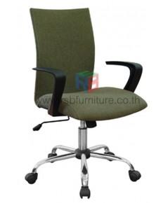 เก้าอี้สำนักงาน พนักพิงระดับกลาง แขนดีไซน์ รหัส 2776