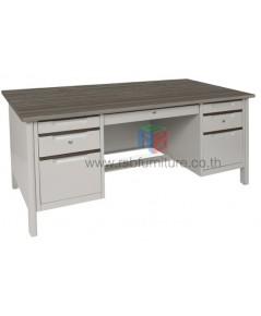 โต๊ะทำงานเหล็ก หน้า Topไม้ W160.5xD77xH75 cm TTD-40 TAIYO รหัส 2806