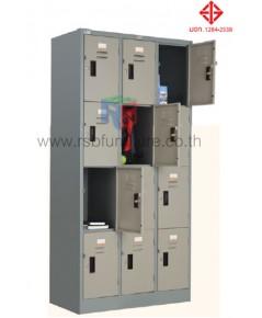 ตู้ล็อกเกอร์ 12 ประตู รุ่น LK - 012 (มี มอก.) รหัส 2816 ยี่ห้อ TAIYO